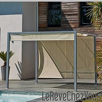 PERGOLA design tonnelle aluminium brise soleil 3x3m coloris ...