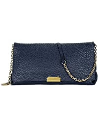 burberry crossbody bag outlet sd28  Burberry Medium Signature Blue Leather Clutch Cross-body Women's Bag