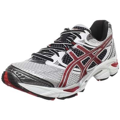 ASICS Men's GEL-Cumulus 12 Running Shoe,White/Flame/Black,15 M US