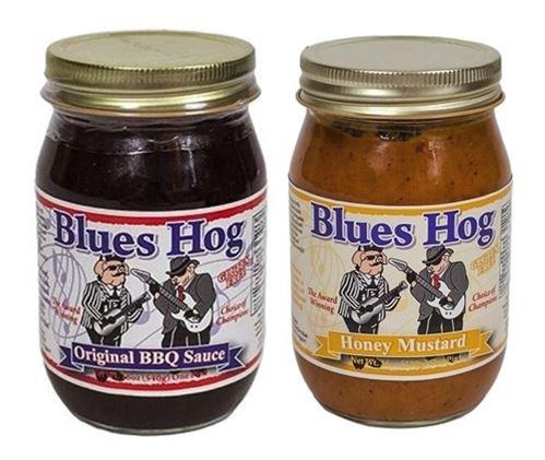 Blues Hog Sauce Barbeque Original, 16 oz & Honey Mustard Sau