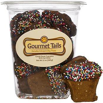 Gourmet Tails Carob Cupcakes with Sprinkles Dog Treats, My Pet Supplies