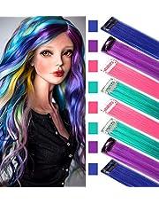 Rhyme Regenboog haarextensies Gekleurde haarextensies