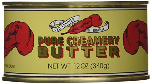 Red Feather Canned Butter A real butter from new zealand-100% pure Red Feather butter has no artificial colours or flavours and for your convenience, it is available in traditional durable cans-Single Can-12Oz.