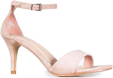 Kitten Heel Ankle Strap Sandals