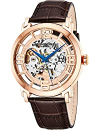 Stuhrling Original Men's 165B2.3345K14 Winchester 44 Automatic Skeleton Black Dial Watch