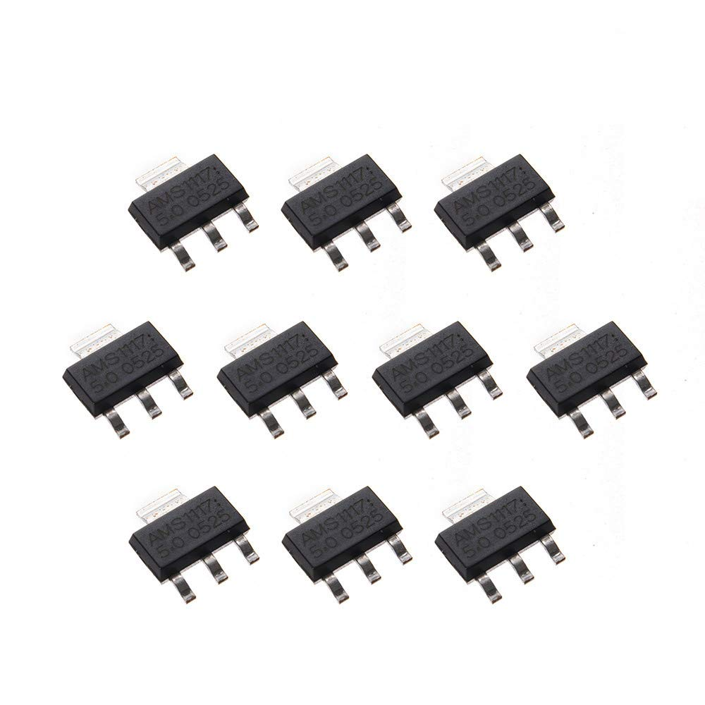 5PCS  X AMS1117-5.0V AMS1117-5.0 5V SOT223 Power Supply Regulator IC