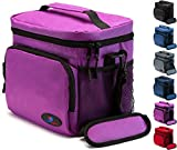 16 can cooler lunch box - Insulated Lunch Box for Women | Lunch Bags for Men | Lunchbox Adult | Cooler Bags Insulated | Adult Lunch Box by Ramaka Solutions | Non-Toxic Stain Resistant Nylon | 9.5 x 7.9 x 9.3 Inches Purple