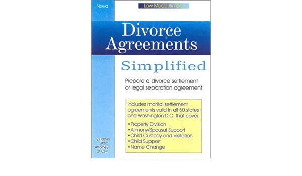 Divorce Agreements Simplied Book Wcd Law Made Simple Daniel