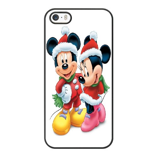 Coque,Coque iphone 5 5S SE Case Coque, Minnie En Mickey Mouse Cover For Coque iphone 5 5S SE Cell Phone Case Cover Noir
