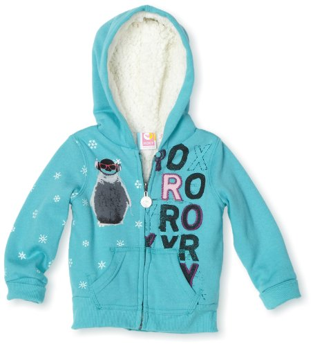 Roxy Kids Baby Girls' Ear Muffs Zip Front Hoodie