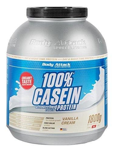 Body Attack 100% Casein Protein Banana, 1-er Pack (1 x 1.8 kg)