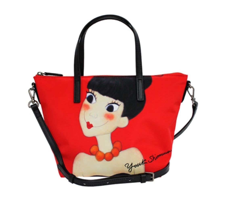YoukShimWon ロマンチックナニ韓国アーティスト作品トートバッグクロスバッグ双方向バッグ。 [並行輸入品] B07J1Y6J77