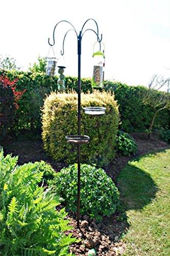 homezone Garden Mile Deluxe 170cm oiseaux sauvages alimentation station avec SUSPENSION mangeoires EAU /& plateau /à graines parfait pour Jardins ext/érieur Mangeoire TABLE AVEC SOL POINTE BASE Garden Mile®