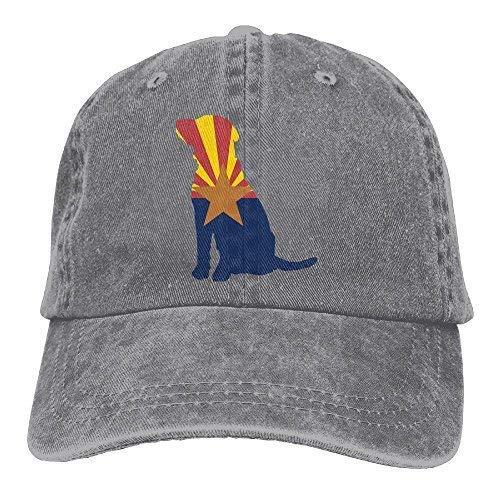 V.G1 Arizona Flag Labrador Dog Baseball Caps Denim Hats for