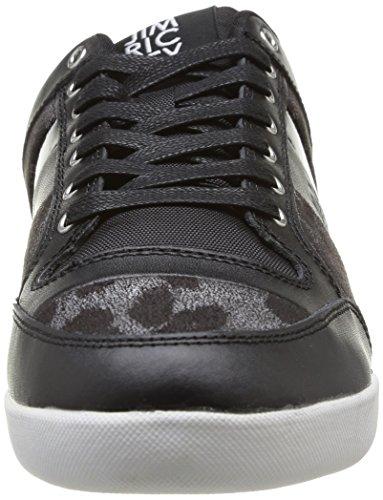 Jim Rickey Carve Lo Leather Patent Animal - Zapatillas de Deporte de cuero hombre negro - Noir (Black Leopard)