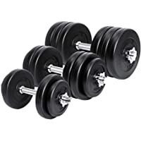 Meteor Essential Dumbbell Set Weight Dumbbells Plates Home Gym Fitness Exercise Available in 15/20/25/30/35KG Set