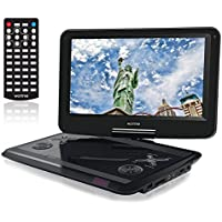 WONNIE 12 Inch Portable DVD Player Built-in 60 Kinds of Games ,USB / SD Slot and 4 Hours Rechargeable Battery, Perfect Gift for Kids (Black)