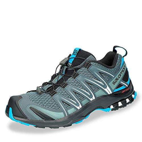 Salomon Men's XA Pro 3D Running Trail Shoes Stormy Weather/Black/Hawaiian Surf 11.5
