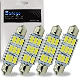 Safego C5W 41mm Festoon LED Dome Canbus Reading LED White Car Interior Light Bulbs 9 SMD 5730 Super Bright Replacement Bulbs LED License Plate Lights Map Lamps No Error,No Polarity Pack of 4