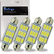 Amazon #DealOfTheDay: Safego 41mm Festoon LED Dome Canbus Reading LED White Car Interior Light Bulbs 9 SMD 5730 Super Bright Replacement Bulbs LED License Plate Lights Map Lamps No Error,No Polarity Pack of 4