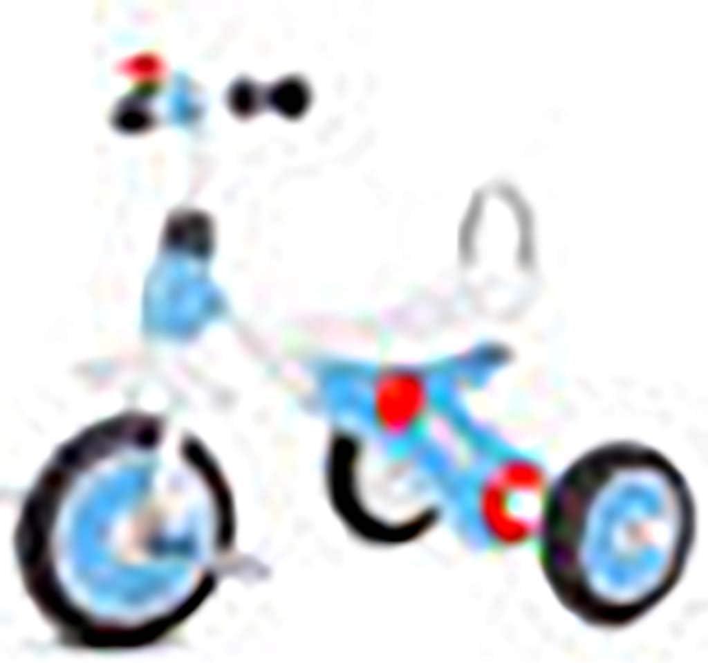 Triciclo infantil 2-6 años de edad Bebé grande Bicicleta Bicicleta Carro de bebé Jardín de infantes Juguete infantil Con música (Color : Blue)