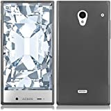 aquos sharp waterproof phone case - Sharp Aquos Crystal 306SH Case, Slim Fit Soft Rubber Candy Skin (TPU) Gel Jelly Cover by MEGATRONIC - Smoke [With FREE Stylus Pen + Anti Scratch Clear LCD Screen Protector + Car Charger + Microfiber Cleaning Cloth]