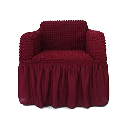 STARS 1 Piece Stretchable Easy Fit Sofa Cover Durable Furniture Slipcover  In Country Style Made