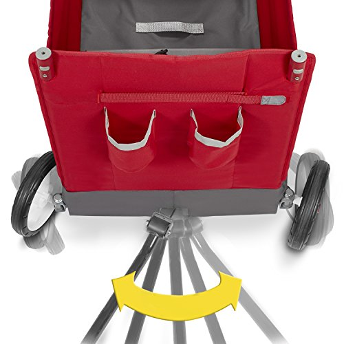 Radio Flyer Kid & Cargo with Canopy, Folding Wagon with 2 Versatile Seats, Red by Radio Flyer (Image #15)