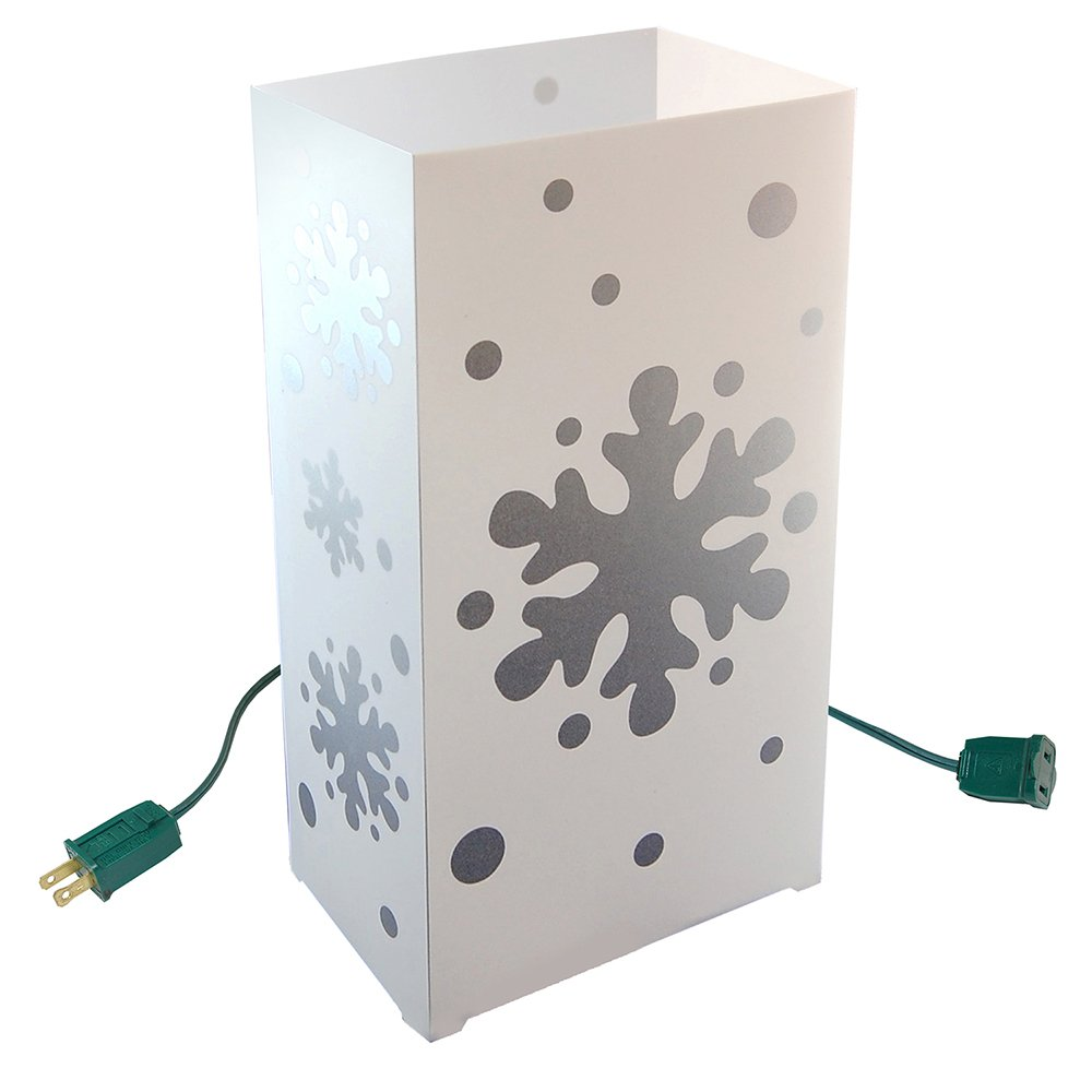 10 Count Electric Luminary Kit with Snowflake Design by Lumabase