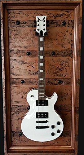"""GFrames """"Copper Casket"""" Guitar Display Case- BASS (W/Glass Door & Wireless LED Light)"""