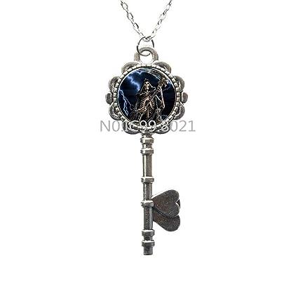amazon com sugar skull key necklace halloween skull man jewelry