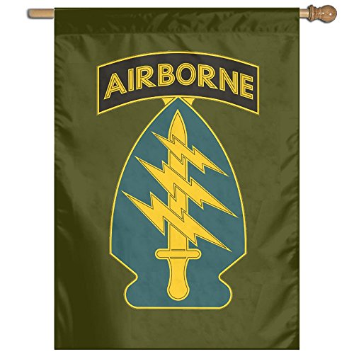 Army Special Forces Unit 100% Polyester House Flag Decorativ