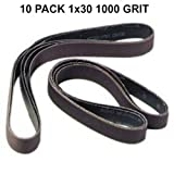 1x30 - 1000 Grit 10 Pack - Premium Silicon Carbide Knife Sharpening Belts - Made in USA
