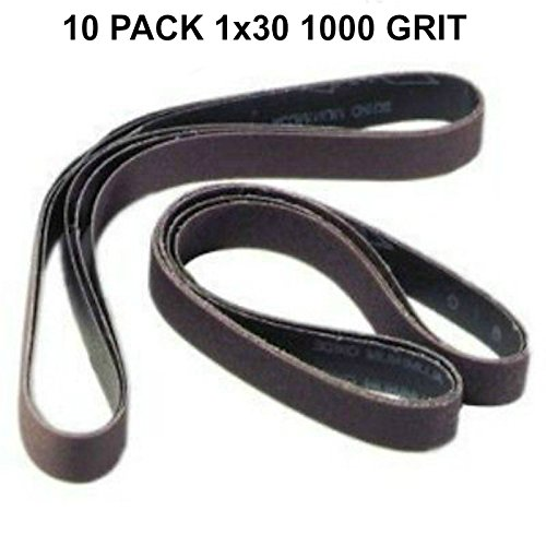 1x30 - 1000 Grit 10 Pack - Silicon Carbide Sanding Belts Model: DE010301000BD