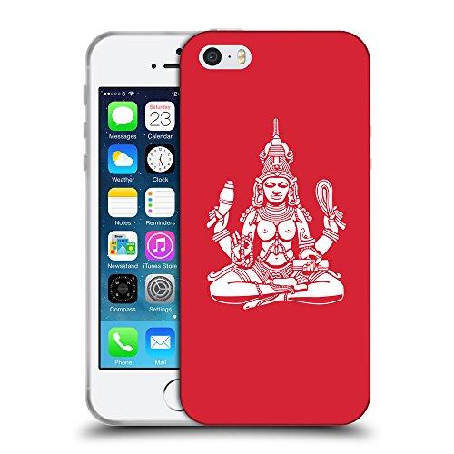 GoGoMobile Coque de Protection TPU Silicone Case pour // Q09560601 Hindou 10 Alizarine // Apple iPhone 5 5S 5G SE