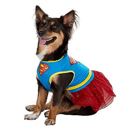 Dogs DC Comics Super Girl Dress Costume - Size Small (Supergirl Dog Costume)