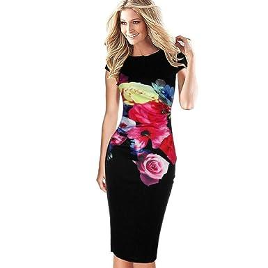 noche Vestido del y desgaste mujer del de mujeres floral las de Lápiz ocasional de elegante la vestidos Noche Vestido del cóctel ajustados club 4qH81w4
