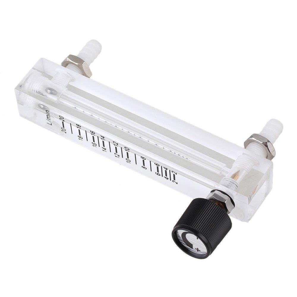 LZQ-7 Acylic Flowmeter Gas Acrylic Metal Fitting Oxygen Flow-Meter 1-20 LPM