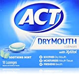 ACT Dry Mouth Soothing Mint Lozenges 18 ea (Pack of 3)