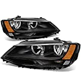 vw jetta headlights bulbs - VW Jetta 4-Door MK6/A6 Pair of Black Housing Amber Corner Headlight Lamp