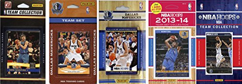 (NBA Dallas Mavericks 5 Different Licensed Trading Card Team Sets, Brown, One Size )