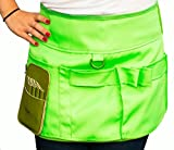 Personalised-Pet-Products Dog Groming Utility Apron Skirt / Tool Belt . Hold All Your Scissors, Combs, Brushes And Treats, And More Importantly Your Mobile Phone! (Green)