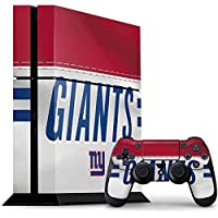 New York Giants PS4 Console and Controller Bundle Skin - New York Giants White Striped | NFL X Skinit Skin