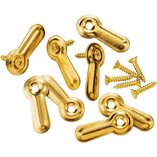 Brass-plated Turn Buttons w/screws, 7/8'' , 8-Pack