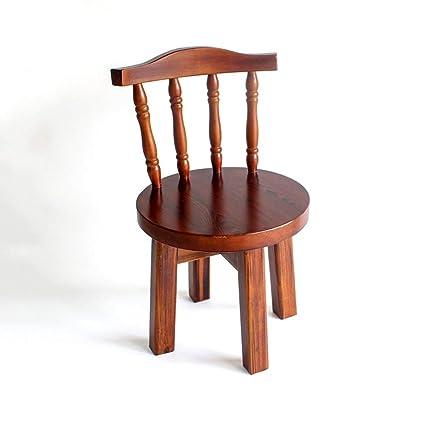 Sillas apilables Banco de madera Taburete de madera maciza Silla ...