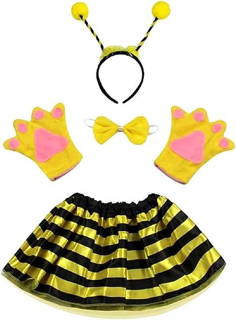 Disfraz de abeja maia apina - niña - tutú - diadema - guantes ...