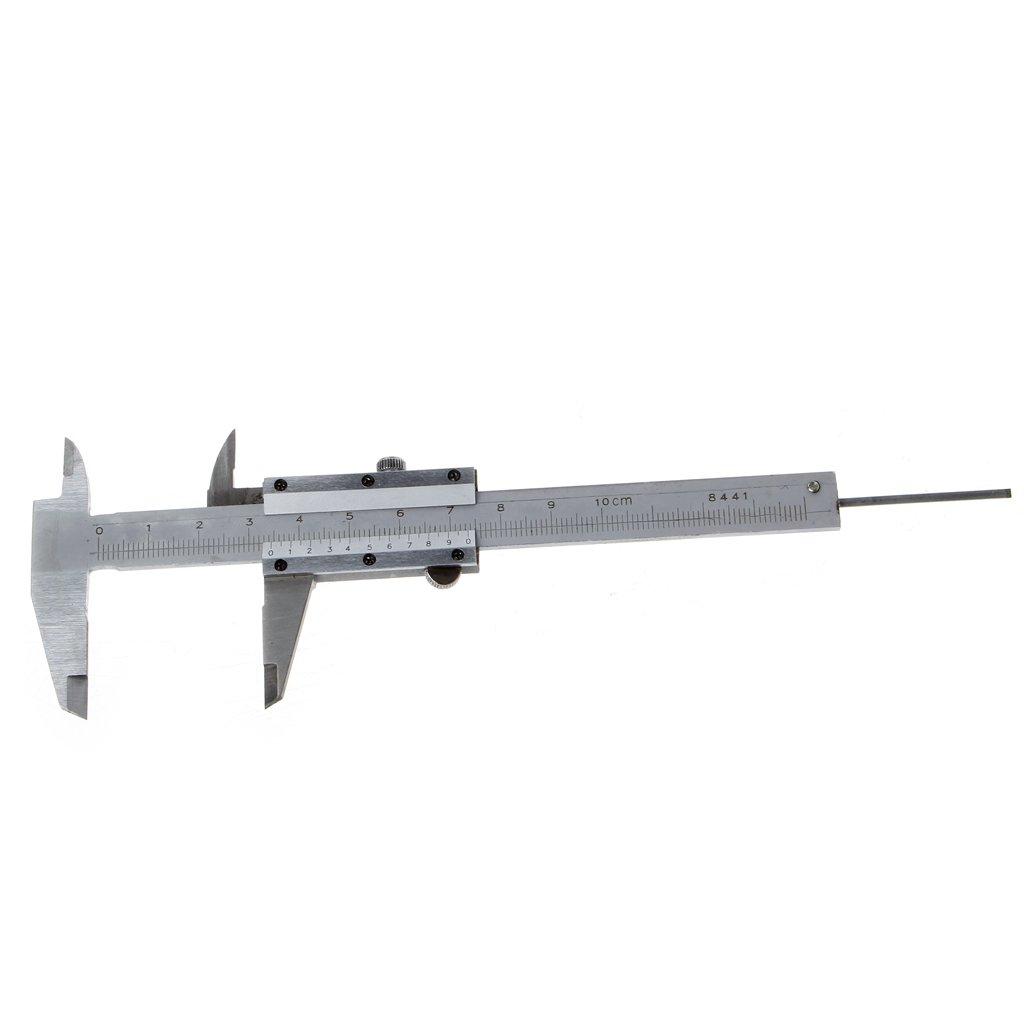 PINH-lang Messschieber,Mini Vernier Caliper 0-100mm Guage Pocket Edelstahl Metric Machinist