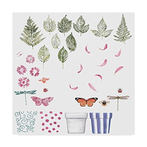 Feuille, Pot, Bibittes by Lisa Audit, 35x35-Inch (Feuille Et Pot)