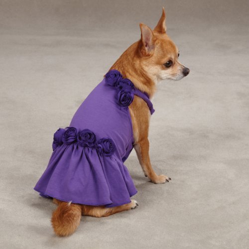 East Side Collection Spring Fling Dog Dresses -Rasberry or Ultra Violet, My Pet Supplies