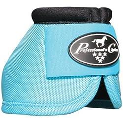 Professionals Choice Equine Ballistic Hoof Overreach Bell Boot, Pair (Medium, Turquoise)